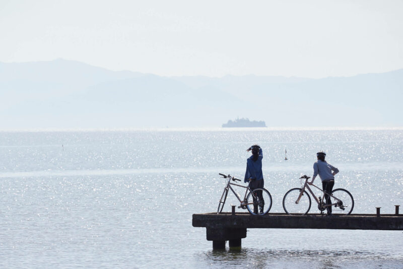 Cycling in lake Biwa