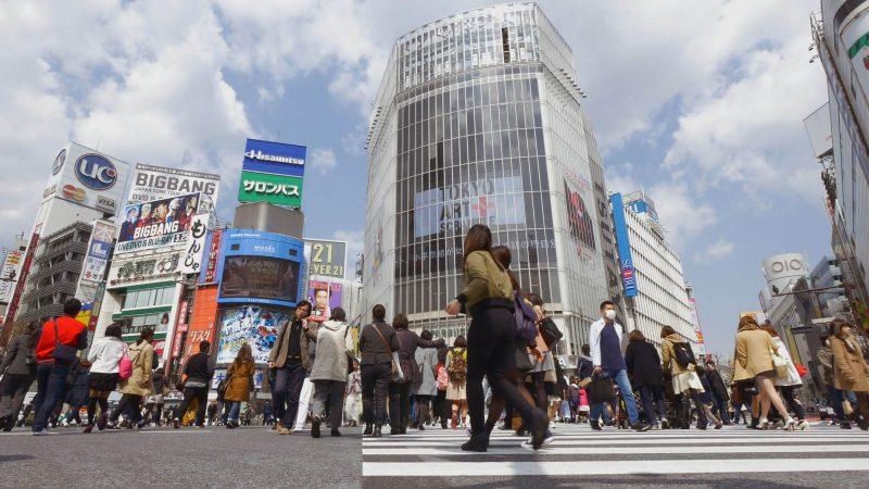 Traffic crossing in Shibuya