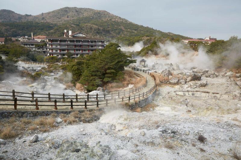 Unzen onsen hot spring
