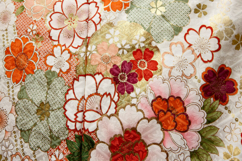 Yuzen-zome embroidery